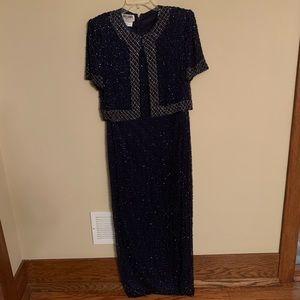 NWT Silk handmade beaded formal dress